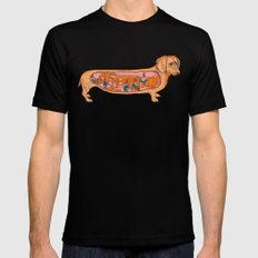 Secrets of the Dachshund  Black Mens Fitted Tee SMALL