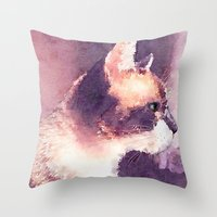Cat Nick Throw Pillow