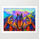 Painted Horses Art Print
