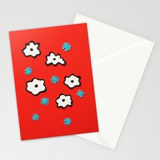 Dutch Flowers on Red Stationery Cards