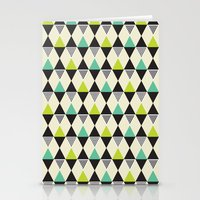 Mid-century pattern Stationery Cards