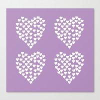 Hearts Heart X2 Radiant … Canvas Print