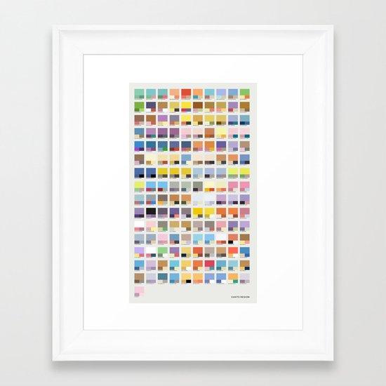 Poke-Pantone 1 (Kanto Region) Framed Art Print