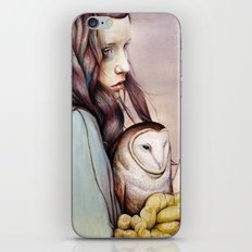 The Girl and the Owl iPhone & iPod Skin