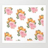 Summer Floral Print Art Print