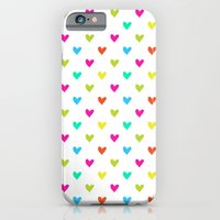 iPhone & iPod Case featuring Love hearts by Claudia Owen