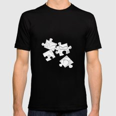 Puzzle Woman Mens Fitted Tee Black SMALL