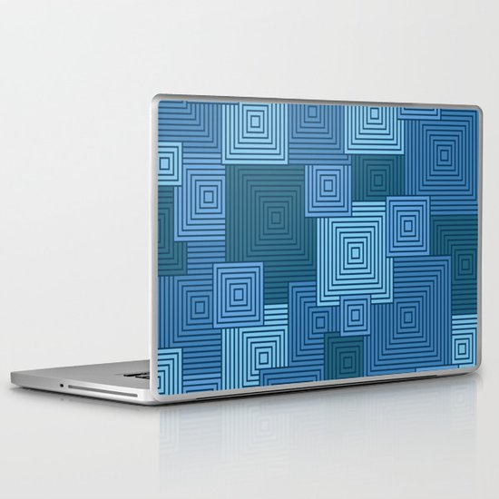 Blue Platformer Laptop & iPad Skin