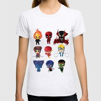 Chibi Heroes Set 2 Womens Fitted Tee Ash Grey SMALL