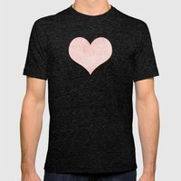 Rose Quartz And White Ze… Mens Fitted Tee Tri-Black SMALL