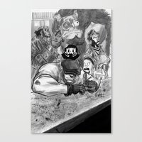 The Goon And Friends Canvas Print