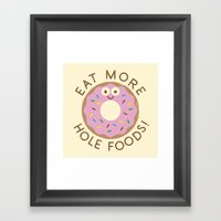 Do's And Donuts Framed Art Print