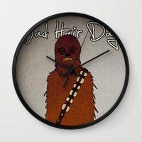 bad hair day no:3 / Chewbacca  Wall Clock