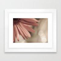 pink. Framed Art Print