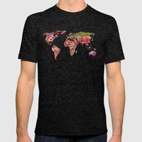 It's Your World Mens Fitted Tee Tri-Black SMALL