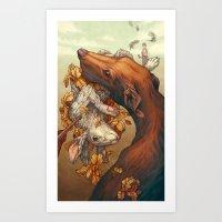 Lepus Art Print
