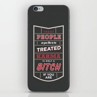 Karma Is Only A Bitch If… iPhone & iPod Skin