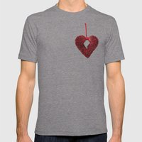 Loving Red Mens Fitted Tee Tri-Grey SMALL