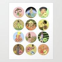 The Zodiac Art Print