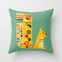 Century Squirrel Throw Pillow