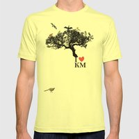 birds Mens Fitted Tee Lemon SMALL