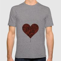 - heart line - Mens Fitted Tee Tri-Grey SMALL
