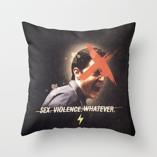 Black Mirror | Dale Cooper Collage Throw Pillow