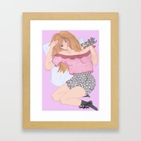 trouble trouble Framed Art Print