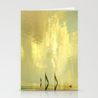 Water Walk Pure Gold Stationery Cards