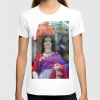 Reflections In A Sari Sh… Womens Fitted Tee White SMALL