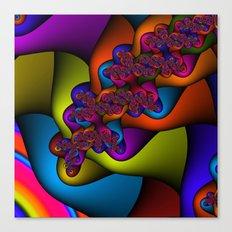 Braided Rainbow Canvas Print