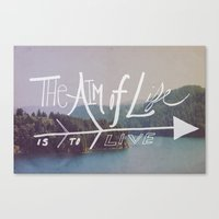 The Aim Of Life II Canvas Print