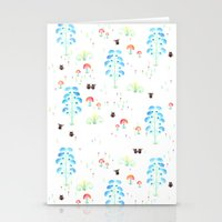 Monster Print Stationery Cards