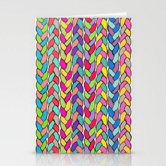 Rainbow Braids Stationery Card
