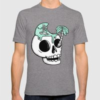 Surfer Thoughts Mens Fitted Tee Tri-Grey SMALL