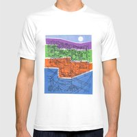 Seoul City #1 Mens Fitted Tee White SMALL