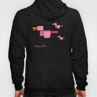 Happy Bird-Pink Hoody