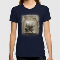 Saving Nature. Womens Fitted Tee Navy SMALL