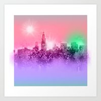 chicago Art Prints featuring chicago by Bekim ART
