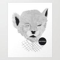 Baby Puma Art Print
