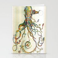 octopus Stationery Cards featuring The Impossible Specimen by Will Santino