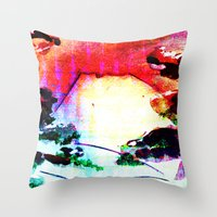 Sunset Mountain Throw Pillow