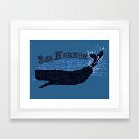 Sag Harbor Whale Framed Art Print