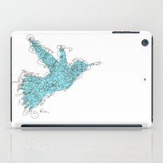 Bird Fly 1 - Aqua/Brown iPad Case