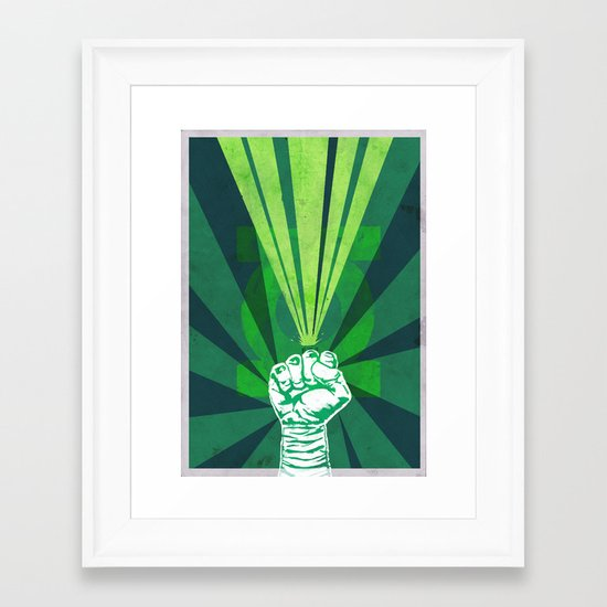 Green Lantern's light Framed Art Print