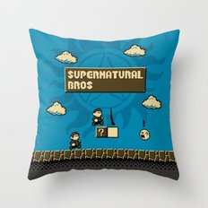Supernatural Bros. Throw Pillow