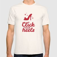 Click Your Heels Mens Fitted Tee Natural SMALL