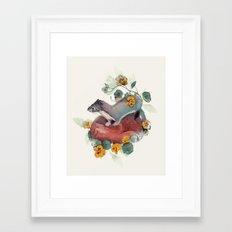 Stoat & Fox Framed Art Print