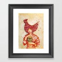 Chicken Or The Egg? Framed Art Print