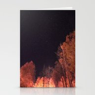 Firey Woods Stationery Cards